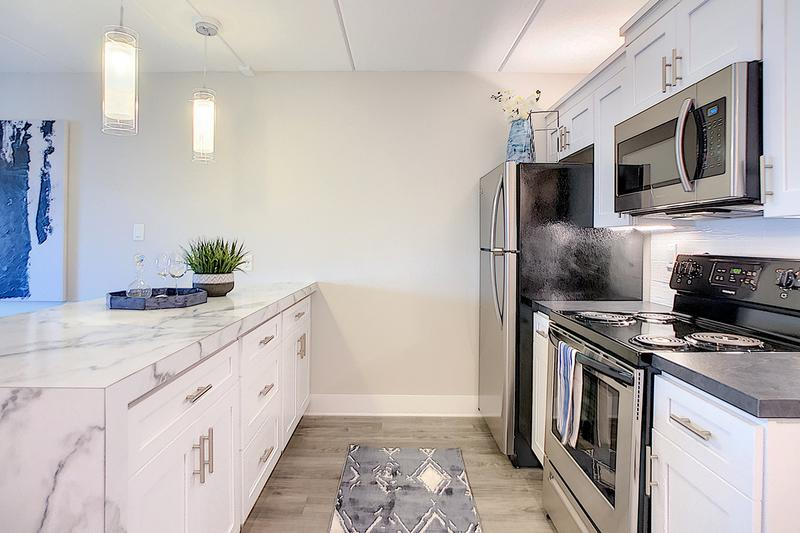 Galley Style Kitchens | Our floor plans feature galley style kitchens