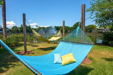 Hammock Garden | Lay out on our hammock garden located right next to the lake.