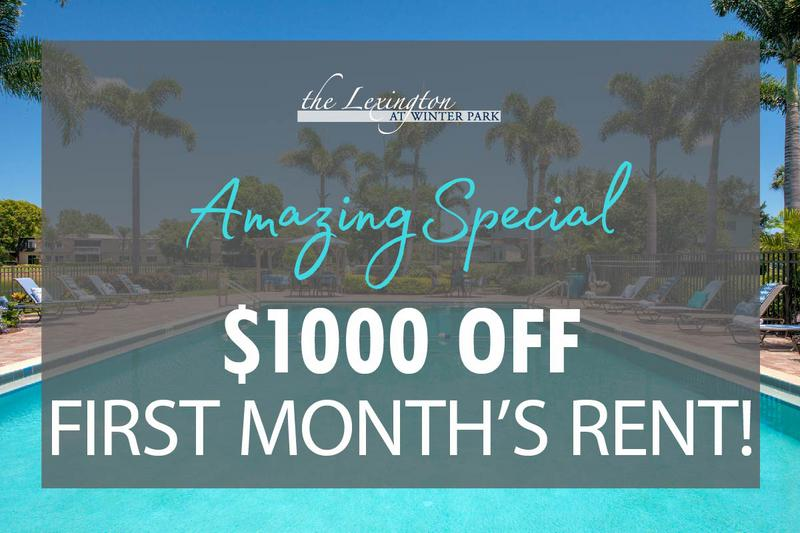 $1,000 Off First Month's Rent | Take advantage of our amazing February special. Some restrictions apply, please call the office for details.