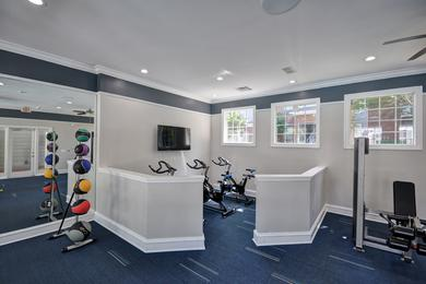 Spinning Bikes | Our fitness center features a spinning room.
