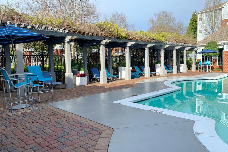 Expansive Sundeck | Lay out in our expansive sundeck under our poolside pergola.
