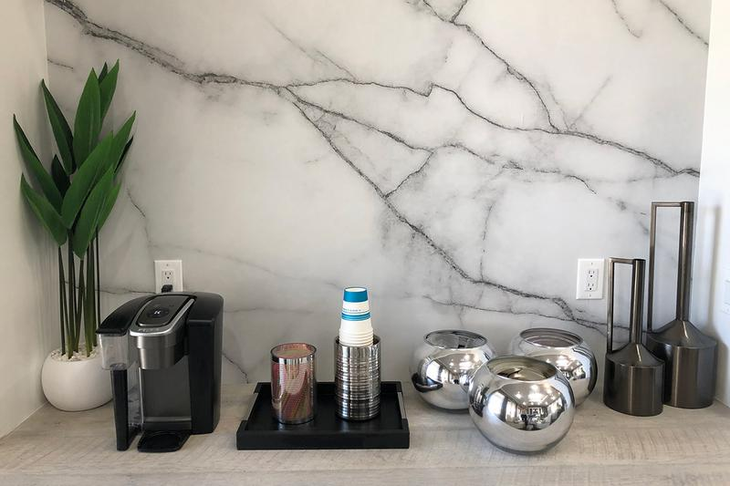 Complimentary Coffee Bar | Grab a cup of complimentary coffee at our coffee bar.