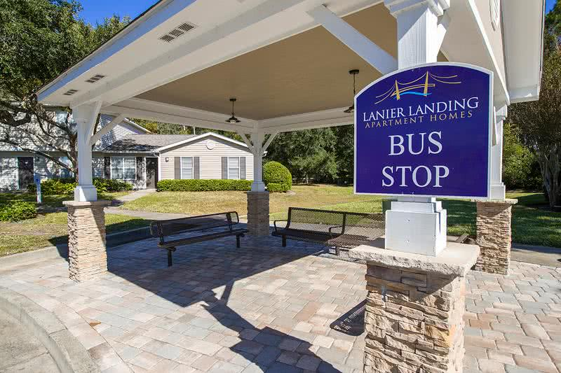 On Site Bus Stop | Getting around town is easy as we have a bus stop right on site!