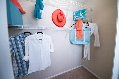 Walk-In Closets | Master bedrooms also feature spacious walk-in closets with built-in organizers.