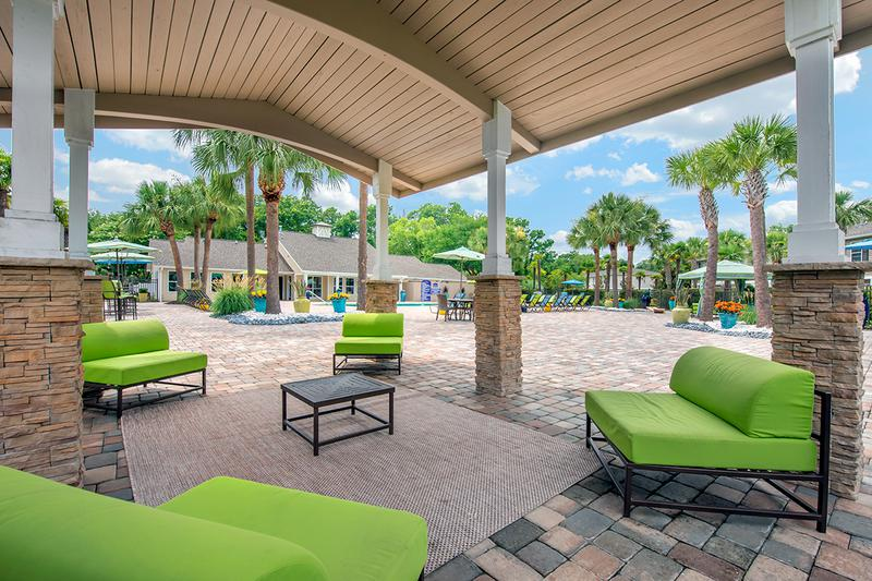 Pool Deck | Relax by the pool in the shade in on our pool deck.
