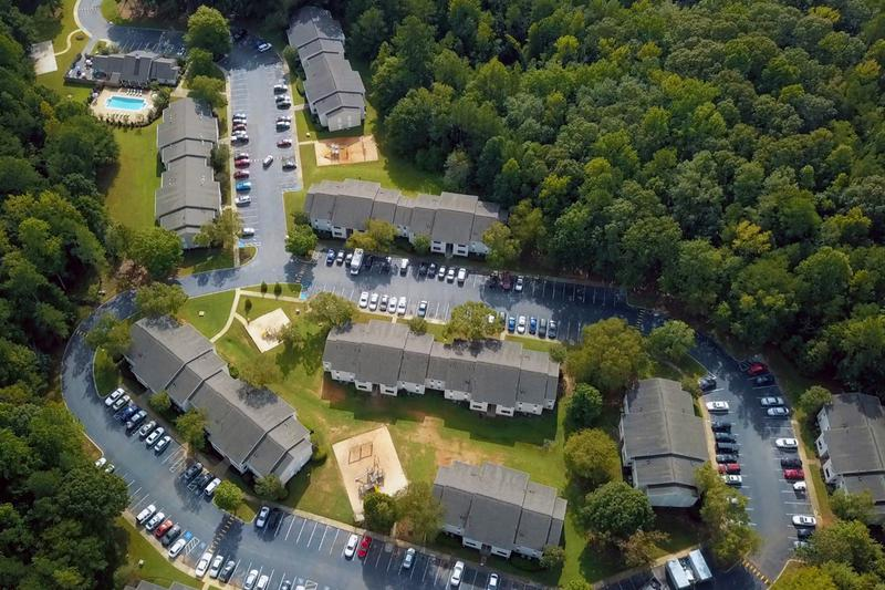 Aerial View of Community | A birds eye view of the River Walk community.