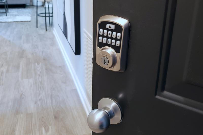 Bluetooth Smart Lock | Our smart home package also includes a smart lock which you can access from an app on your phone.