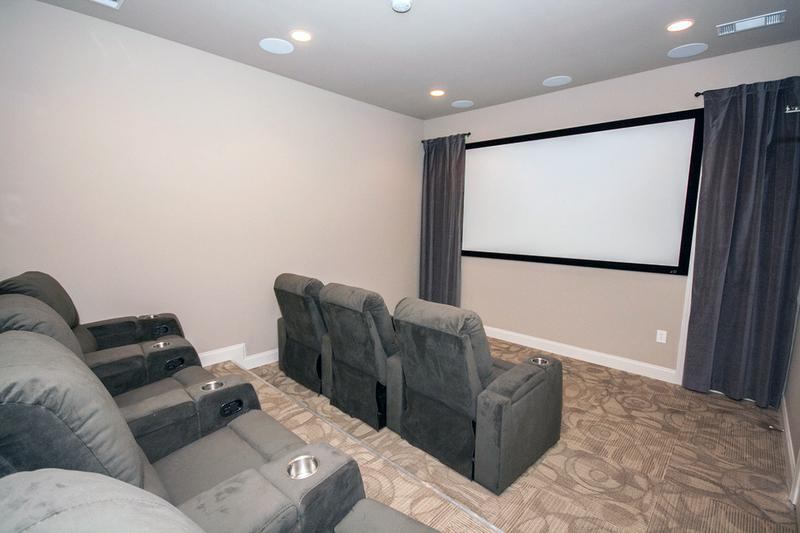 Media Room | Enjoy a movie on the big screen in our media room.
