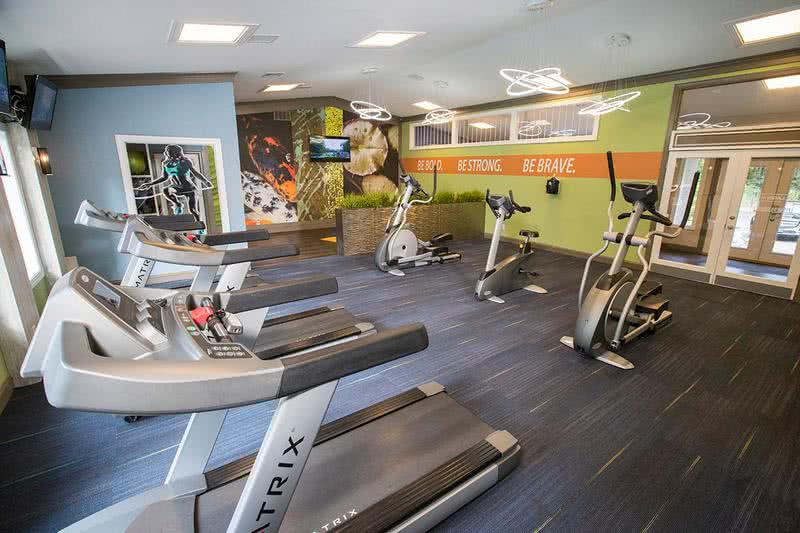 Fitness Center | Get an invigorating workout in our state-of-the-art fitness center. Work on your cardio on one of our treadmills or bikes.