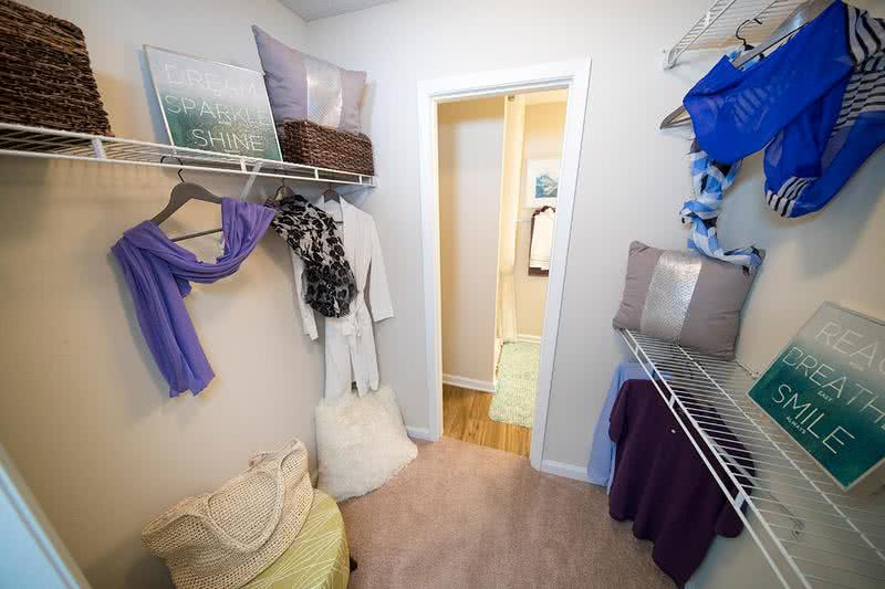Walk-In Closet | Spacious walk-in closet with built-in organizers are featured within our master bedrooms.