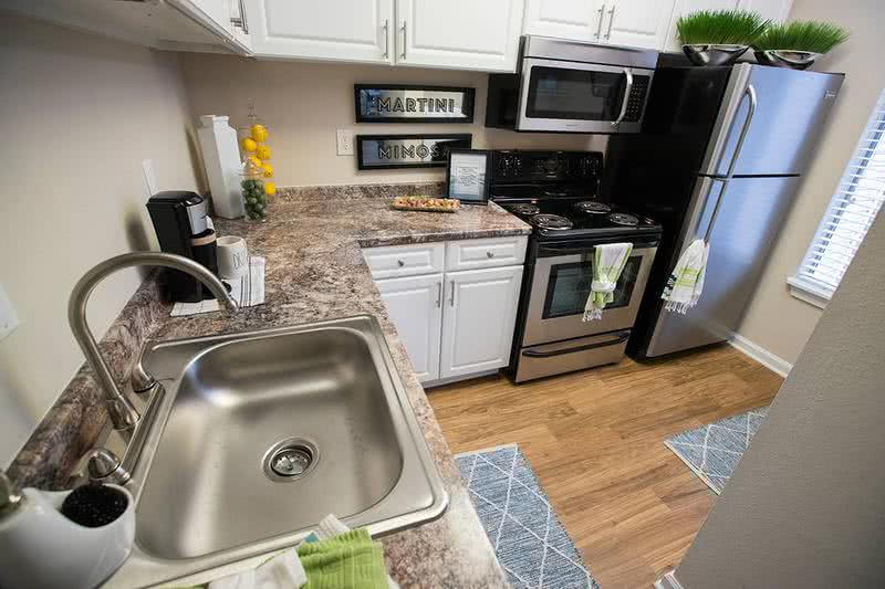 Stainless Steel Appliances | Beautifully upgraded, full-sized stainless steel appliances.