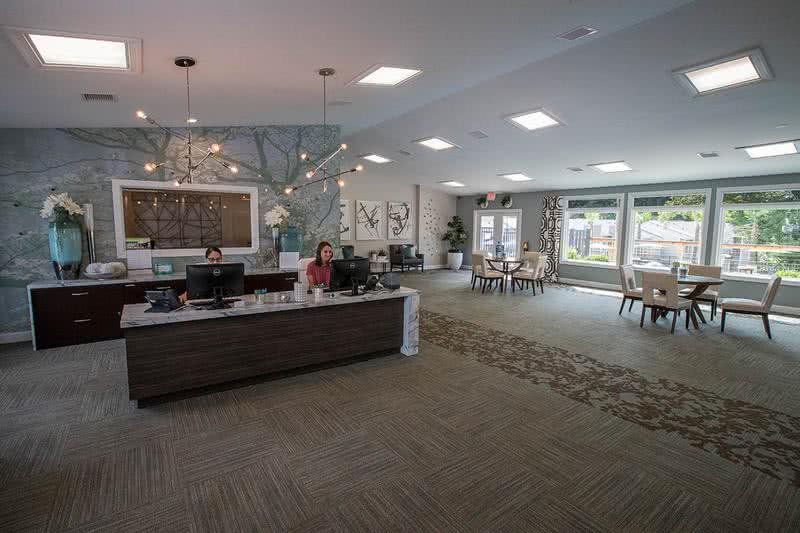 Leasing Office Interior | Come on into the leasing office today! Our friendly staff is waiting to help you find your new home!