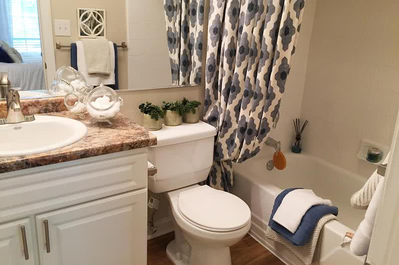 Master Bathroom | Your en-suite bathroom features updated cabinets and countertops.