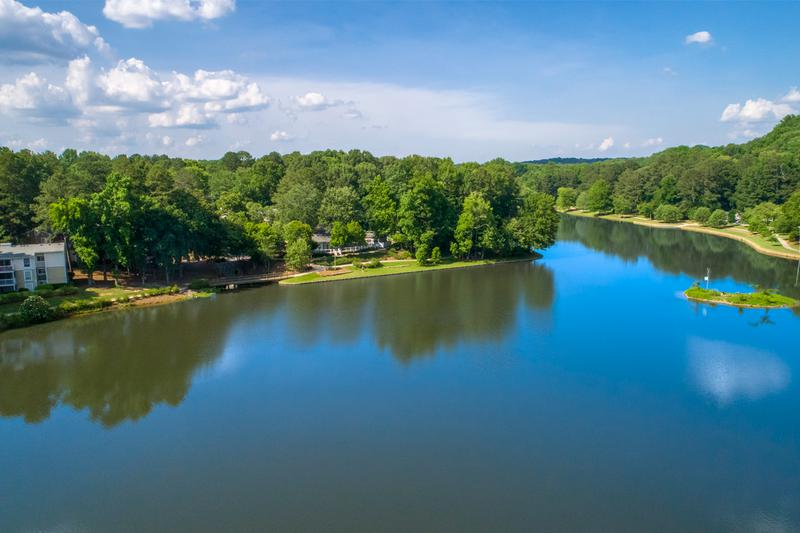 Located on a Nature Preserve | Breathtaking views available of beautiful Martin Lake in these stunning Roswell, GA Apartments.