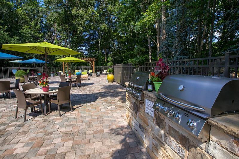 Poolside Grills | Utilize our poolside grills and have a cookout with some friends by the pool.