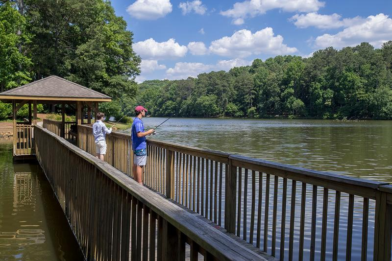 Fishing Pier | Cast your line from our lakeside pier.