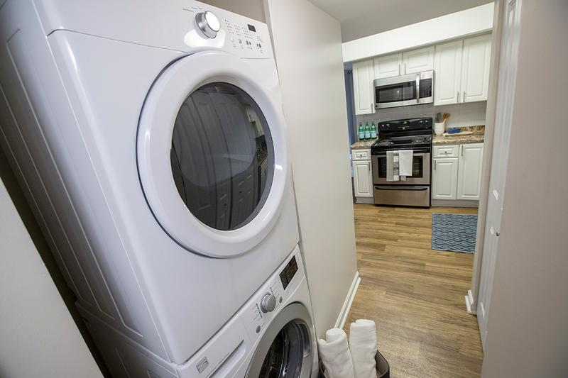 Washer & Dryer Appliances | All apartment homes come with full size washer & dryer appliances for your convenience.