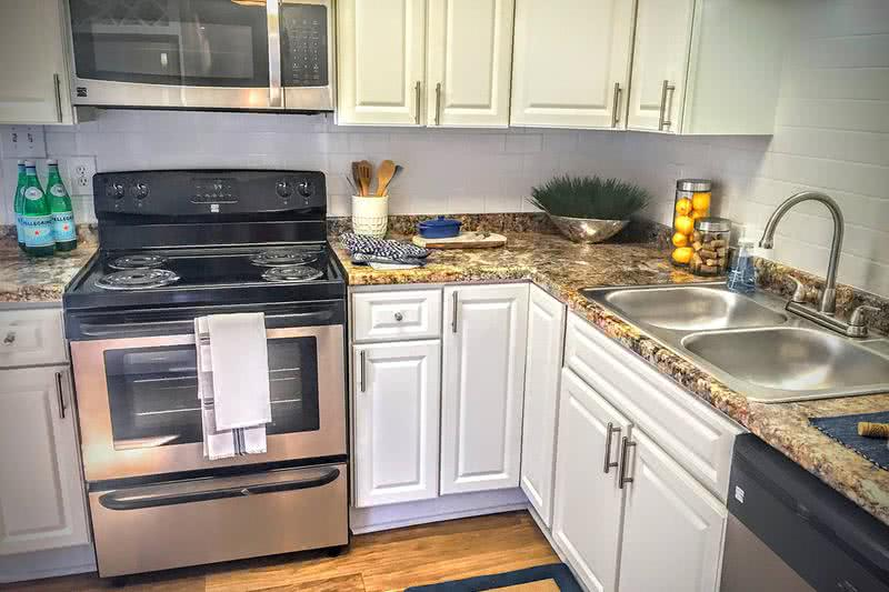 Stainless Steel Appliances | Our kitchens also feature stainless steel appliances.