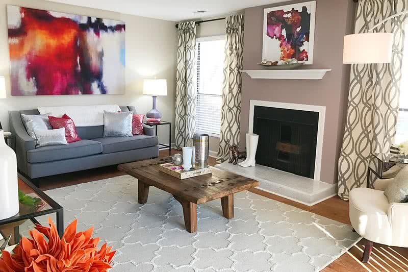 Wood Burning Fireplace | Select apartment homes feature a wood burning fireplace.