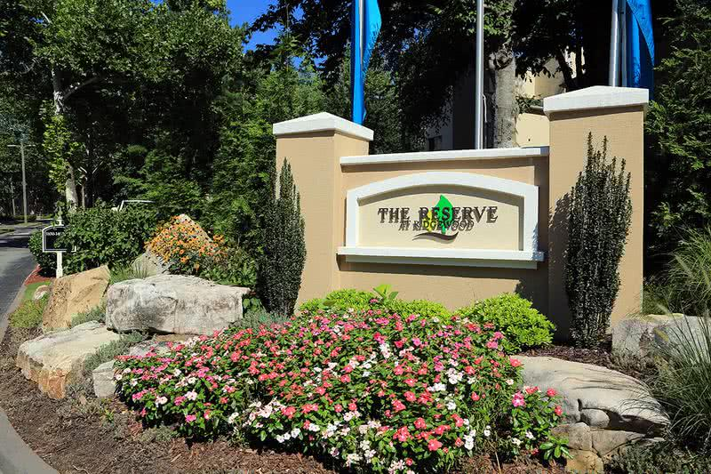 Front Entrance Sign | Welcome home! 'Reserve' your new home now at The Reserve at Ridgewood!