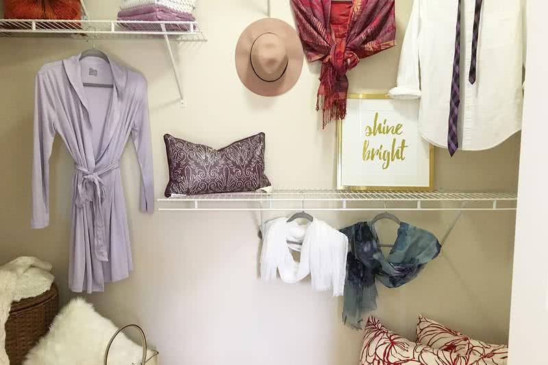 Closet | All closets come with custom built-in shelving.