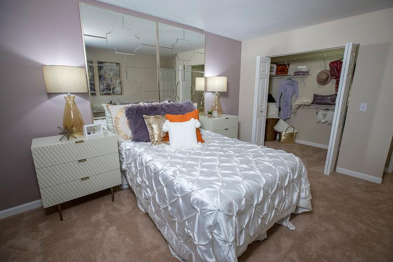 Guest Bedroom | This bedroom might as well be a master bedroom too! Its about the same size and that closet can fit any fashionista's collection!