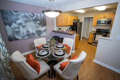 Beautiful Sandy Springs Apartments | You'll love our open concept floor plans with separate dining area overlooking the kitchen.