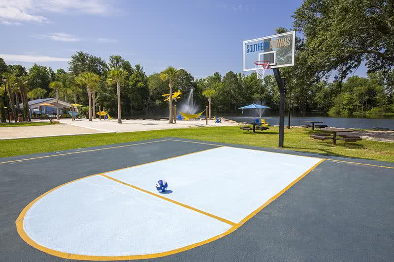 Basketball Court | Get a game of basketball together or play a little 1 on 1 at our community basketball court.