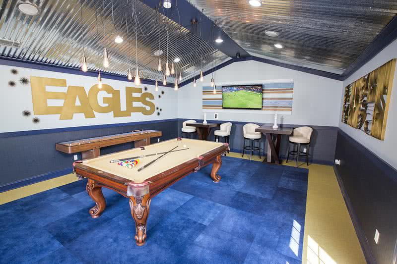 Game Room | Residents just love hanging out in our game room and getting in a game of billiards with friends.