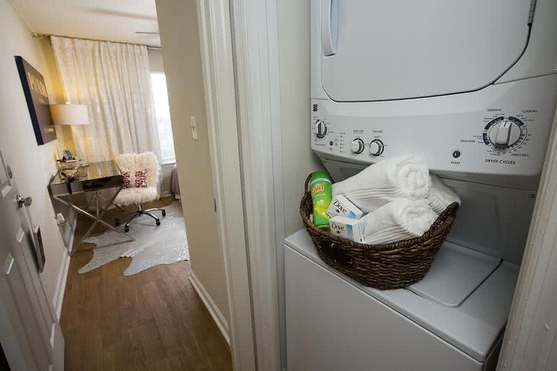 Laundry Room | Convenient washers and dryers included in every floor plan.