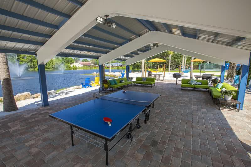Pavilion | Hang out in the shade under our beach-side pavilion and play a game of ping pong.
