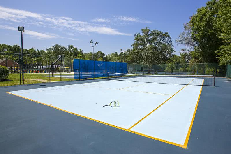 Tennis Court | Get in a game of tennis at our regulation sized, lighted tennis court.