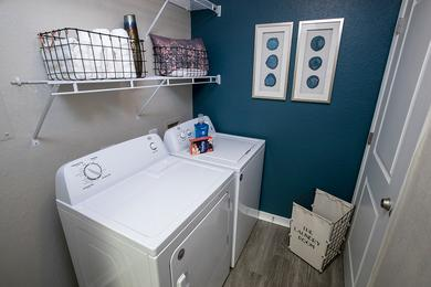 Washer & Dryer Included | Full size washer and dryer appliances are included for your convenience.