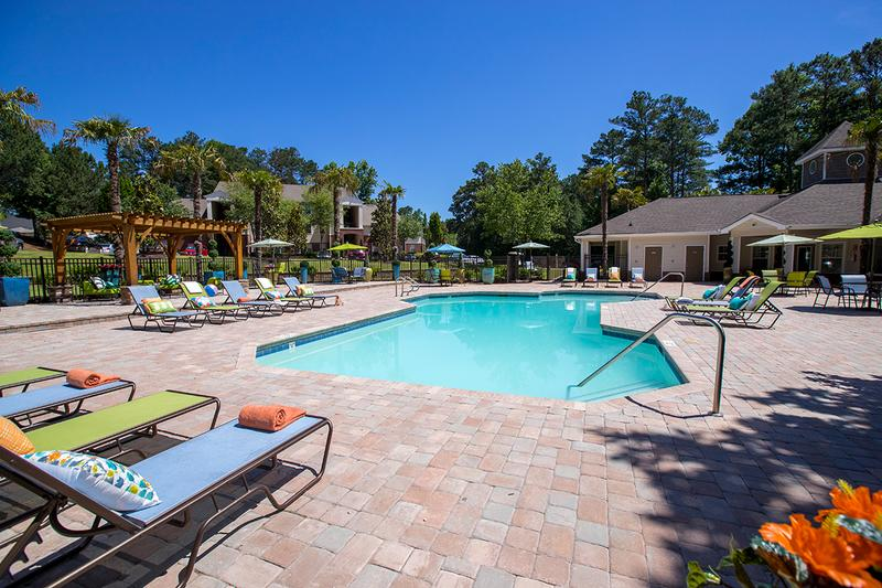 Pool with Expansive Sundeck | Our pool is a great place to soak in the sun.