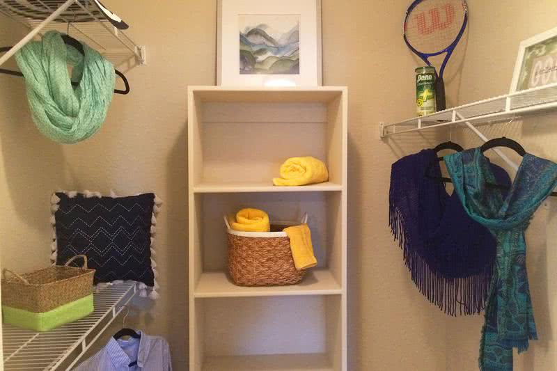 Walk-In Closet | Get lost in our over-sized walk-in closets and enjoy built-in shelving.
