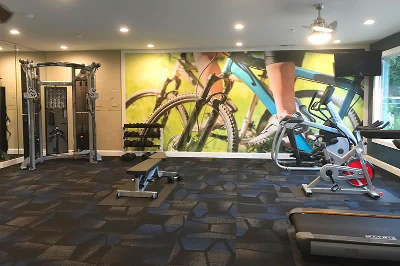 Cardio Equipment | Our resident fitness center features plenty of cardio machines to get your workout on.