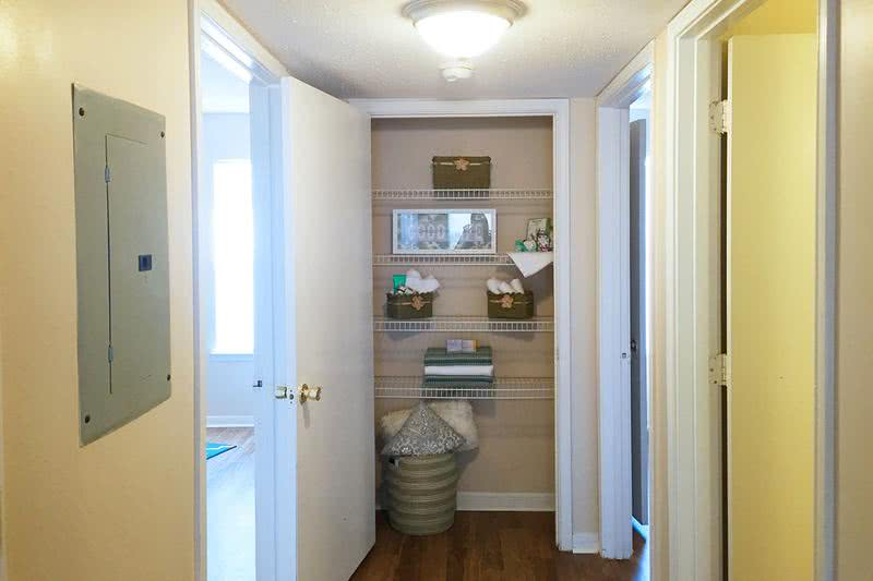 Linen Closet | No one can ever have too much storage. Select floor plans offer large linen closets for those odds and ends.