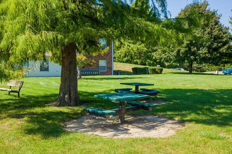 Picnic Area | Enjoy our picnic areas on a sunny day with our pre-installed grills.