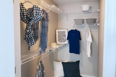 Walk-In Closets | Spacious walk-in closets with built-in organizers.