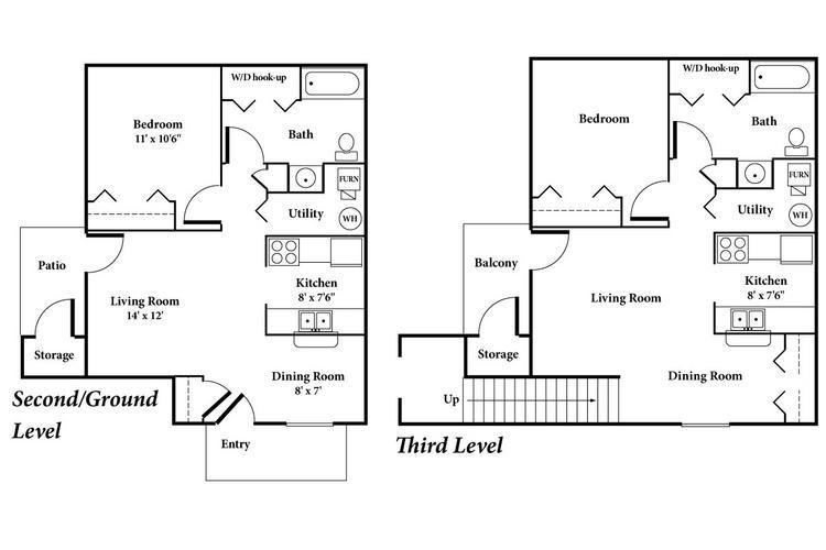 Apartment floor plans pricing dunlap falls peoria il for 3 bedroom apartments in peoria il