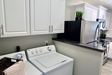 Washer & Dryer Appliances | Full size washer and dryer appliances included within your apartment home.