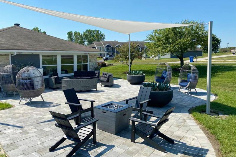 The Cloud Lounge | Our outdoor lounge with WiFi access features a fire pit and plenty of seating.