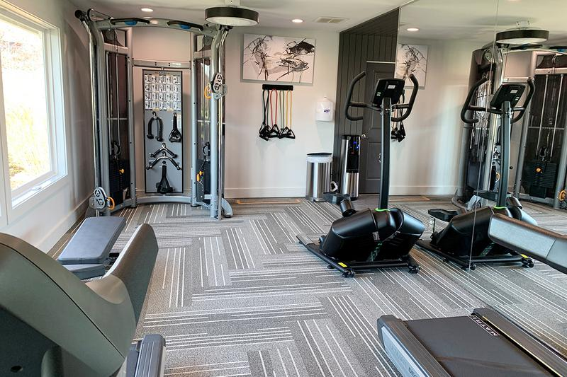 Fitness Center | Our clubhouse features a state-of-the-art fitness center.