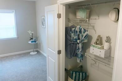 4x4 Closet | All bedrooms feature spacious closets with built-in organizers.