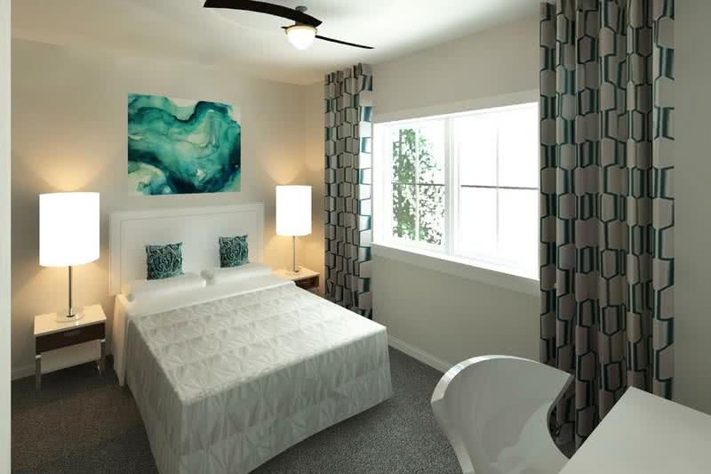 New 4 Bedroom Bedroom | Spacious bedrooms with large windows are featured in the new 4 bedroom floor plan.