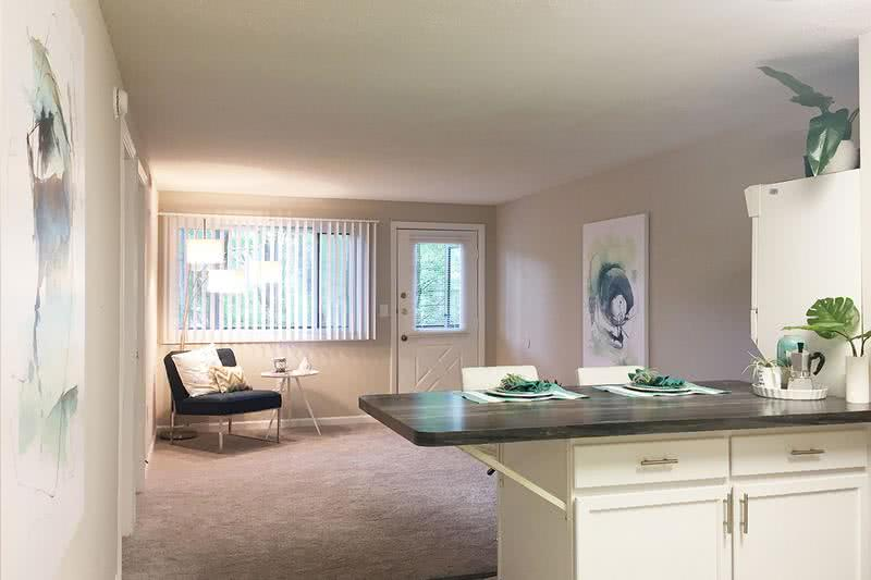 4x2 Living Area | Bright and spacious open concept living area in our 4 bedroom homes.