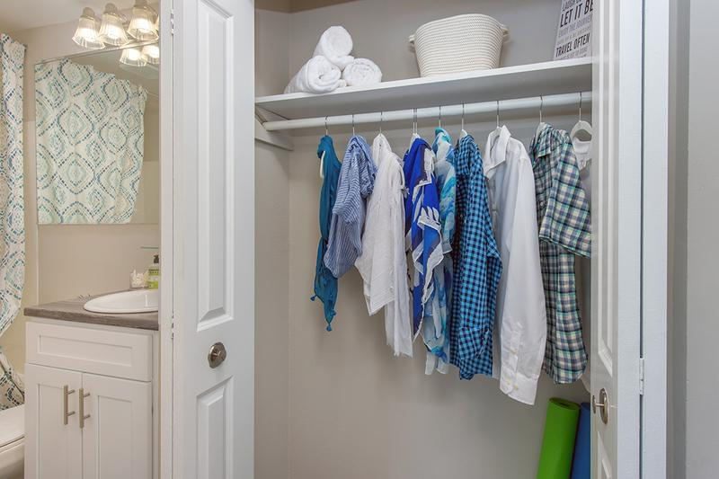 Spacious Closets | You'll love our spacious closets with built-in organizers.