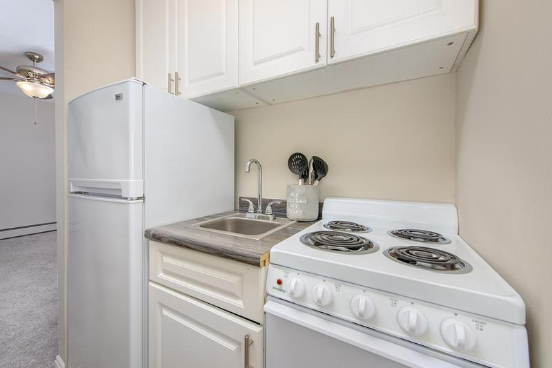 Updated Kitchen | Newly renovated kitchens featuring new cabinetry and counter tops, as well as new appliances.
