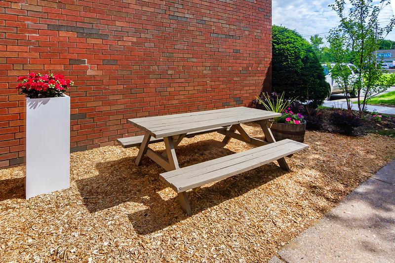 Picnic Table | Enjoy a picnic on one of our picnic tables.