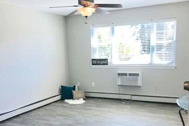 Wood Style Flooring Available | Studio apartments with wood-style flooring are available to rent.